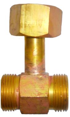 Тройник рамповый под манометр (гайка G3/4, гайка G3/4, М20х1,5 вн)